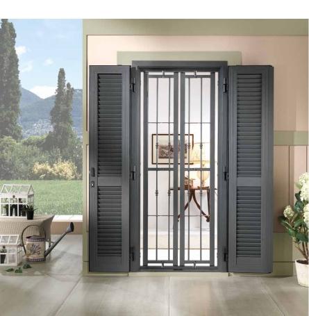 Grate per finestre con persiane top protezioni per for Finestre velux fisse