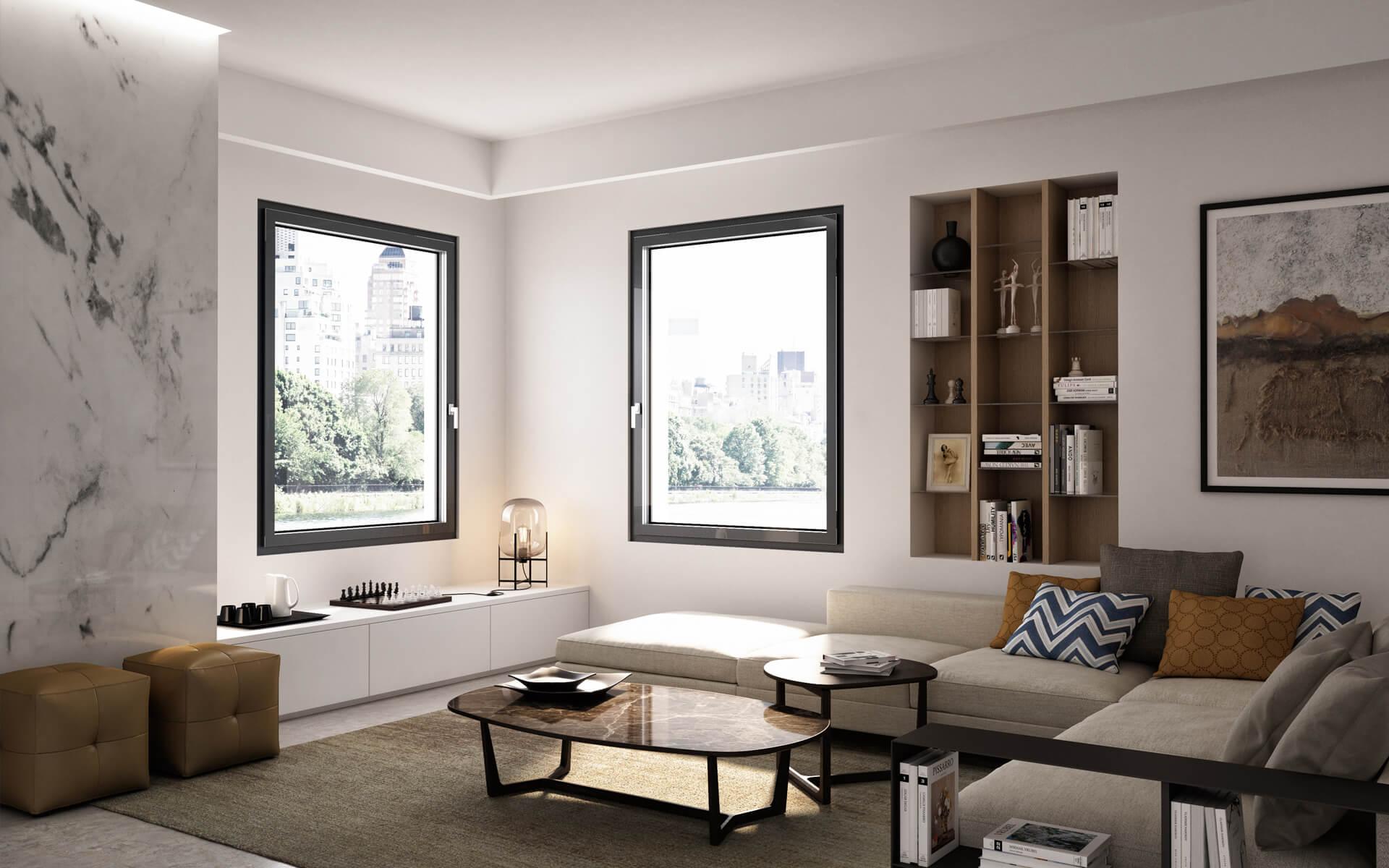 Finestre moderne tutto vetro frimar serramenti milano for Progetti moderni